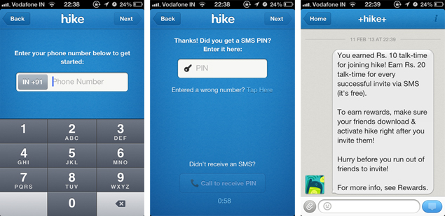 hike-mobile-verification-ios,im app, hike,messaging app, hike messaging app,techbuzzes.com,techbuzzes