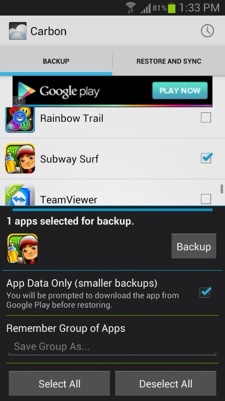 Android Apps,Subway Surfers Android Game,World tour rome,Subway surfers world tour rome,carbon app,carbon backup , carbon restore,techbuzzes