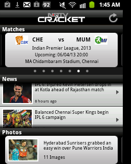 ipl live, ipl live scores, techbuzzes.com,techbuzzes, ipl schedule, Indian Premier League live updates,ipl 2013, android, ios, iphone, ipad, windows, blackberry, windows phones, apps, ipl cricket apps, ndtv cricket
