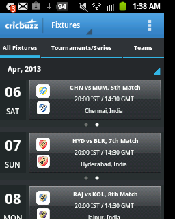 ipl live, ipl live scores, techbuzzes.com,techbuzzes, ipl schedule, Indian Premier League live updates,ipl 2013, cricbuzz,android, ios, iphone, ipad, windows, blackberry, windows phones, apps, ipl cricket apps