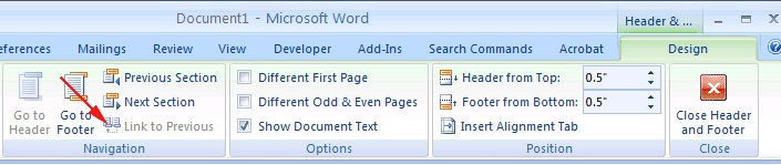 microsoft word 2007,design tab IN MICROSOFT WORD 2007,techbuzzes