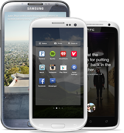 facebook home, facebook, launcher app for andriod, android devices, samsung, galaxy S3, S4 HTC One, HTC Note II, techbuzzes, techbuzzes.com, launcher apps, android apps, android
