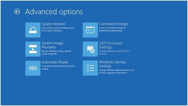 Boot Windows 8,windows 8 advanced options