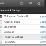 Account & Settings Tab,Account & Settings Tab LinkedIn,techbuzzes