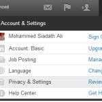 Account & Settings Tab,Account & Settings Tab LinkedIn,techbuzzes
