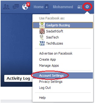 delete facebook account,Account Settings,facebook Account Settings,techbuzzes
