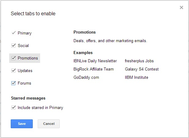 Gmail Select Tabs,gmail new,techbuzzes,