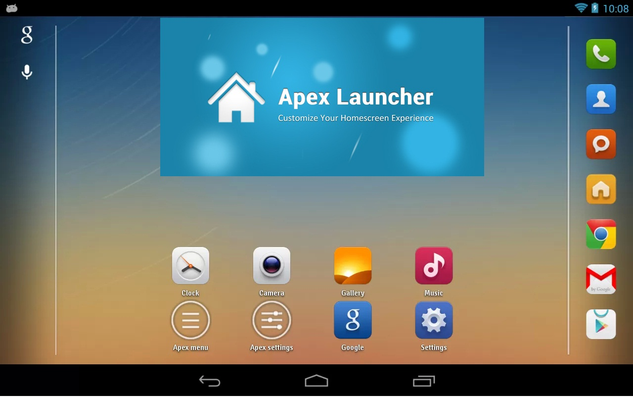 Launchers for Android, Android Launcher App, techbuzzes,  Apex Launcher, Apex Launcher for Android,
