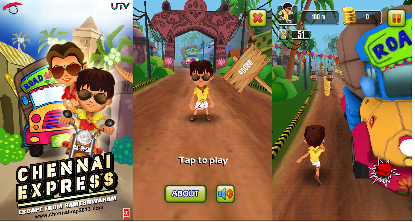 chennai express, android devices, android, ios, devices, techbuzzes, chennai express game, android game, techbuzzes.com, movie game