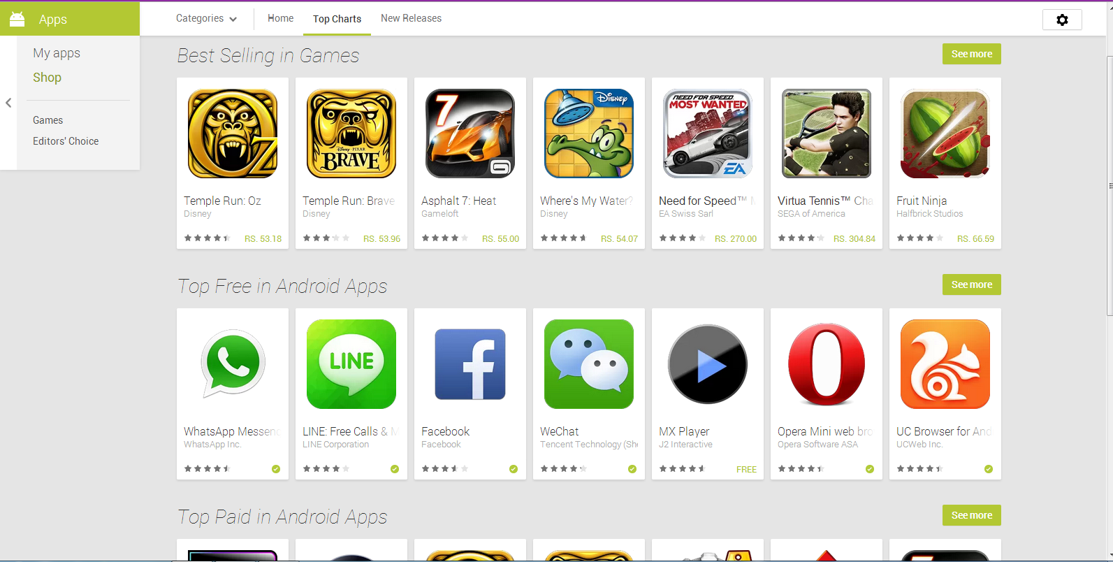 Google revises web version of android app on play store Play app