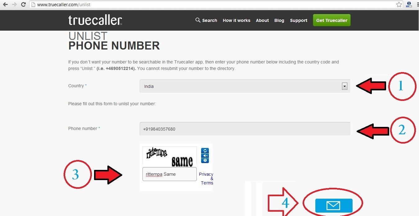 TrueCaller Unlist, Unlist TrueCaller, Number From TrueCaller