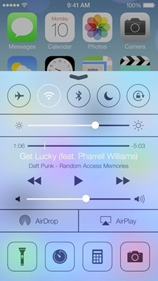 iOS 7 Features Control Center, Control Center,techbuzzes