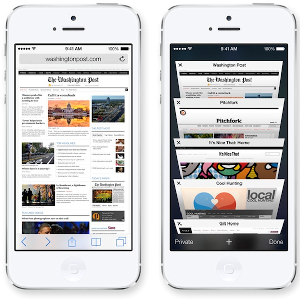 iOS 7 Features ,Safari browser, new Safari browser, ios 7 Safari browser, techbuzzes