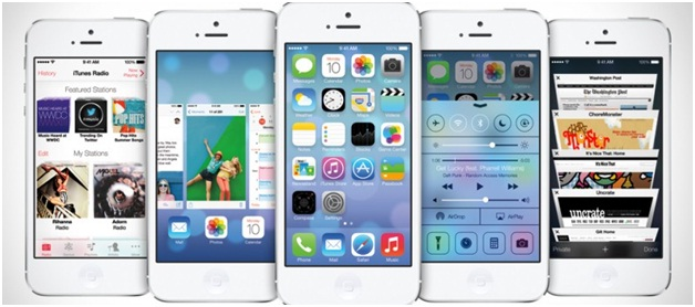 iOS 7 Features, iOS Multi-Tasking, iOS Background Apps, Control Center ,Activation lock ,Safari Browser ,SIRI