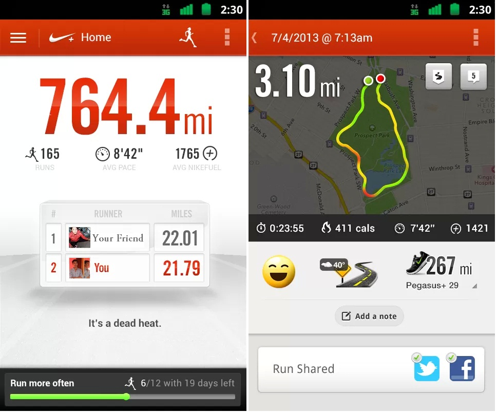 Fitness Apps for Android Phones, Nike+ Running, Nike+ Running for Android Phones, techbuzzes