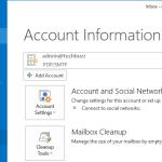 Account Info, Outlook 2013 Account Info, MS Outlook 2013 Account Info,