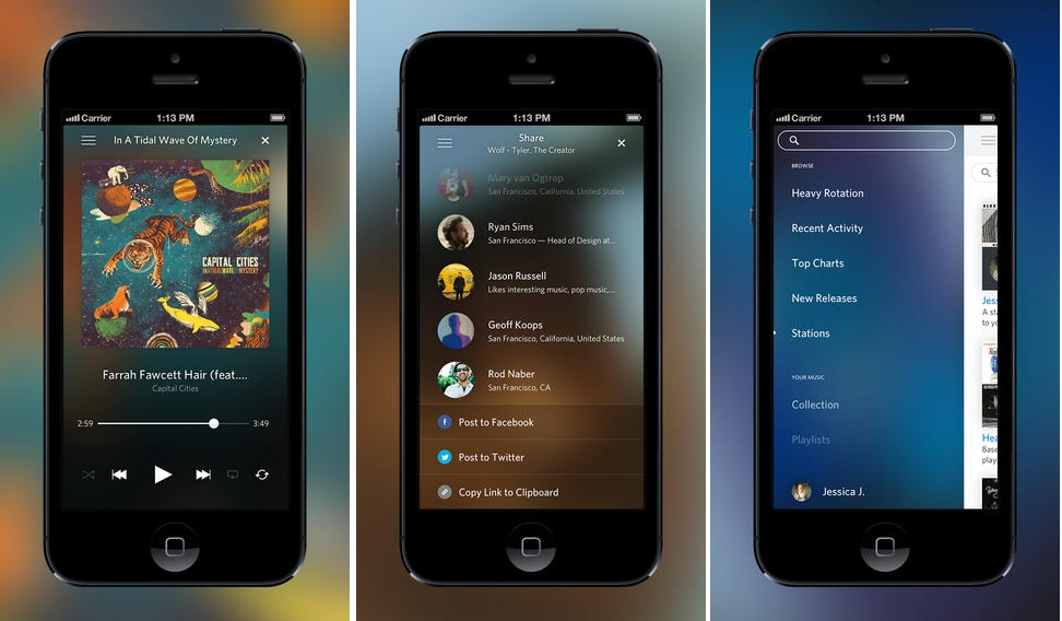 Rdio, Must Have Apps for iOS 7, Rdio for iOS 7, Rdio App, Rdio iPhone, Techbuzzes