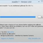 Jailbreak on iOS 7, Evasi0n 7 admin