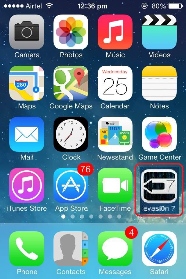 Jailbreak on iOS 7, Evasi0n 7 admin, Evasi0n 7 jailbreak