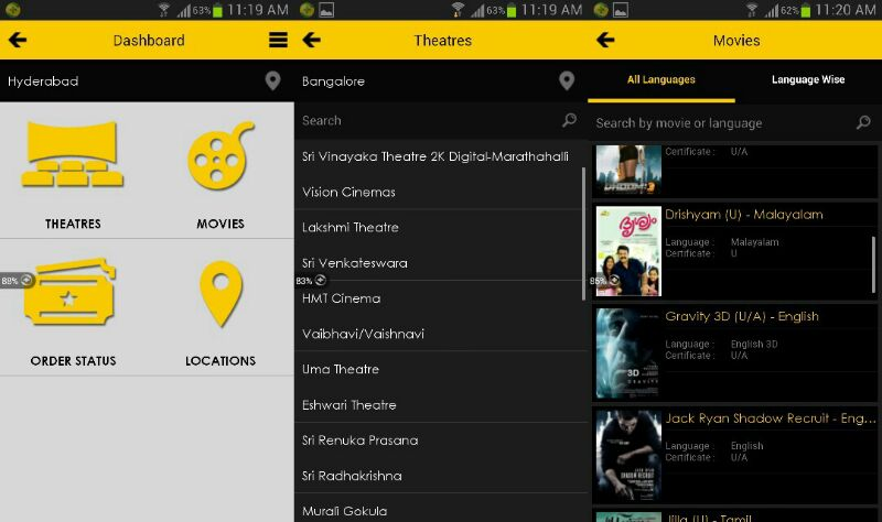 movie, cinema, android apps, cinema apps, inox, pvr, big, fun cinemas, cinemax, ios apps, movie app, to book movie tickets, smartphone apps, techbuzzes.com, techbuzzes, windows phone, blackberry, ame, india, box office, move tickets