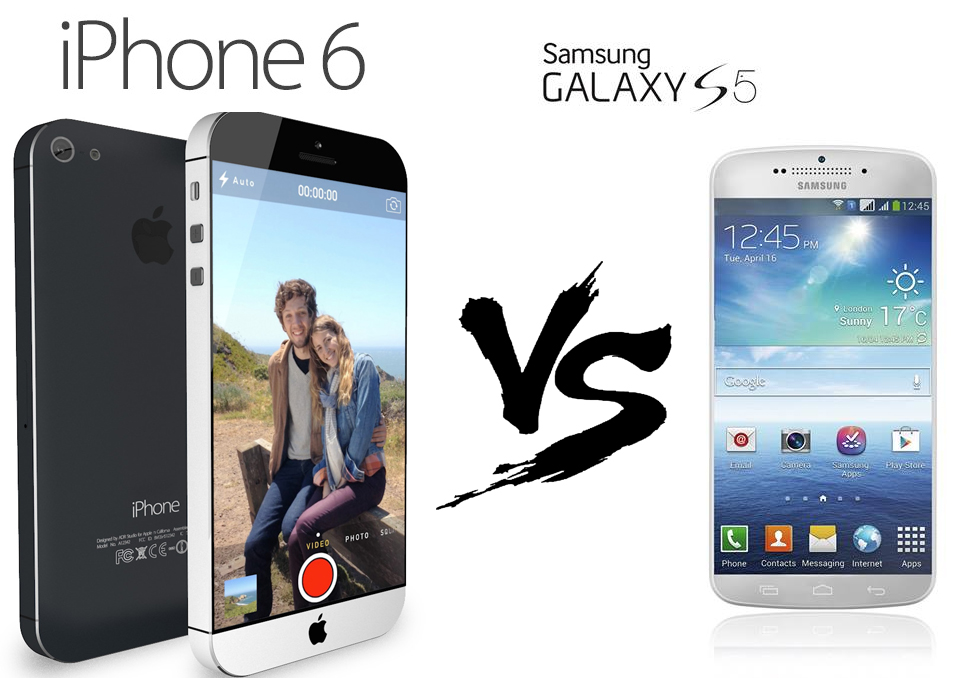 Samsung Galaxy S5 v/s iPhone 6, Samsung Galaxy S5, iPhone 6