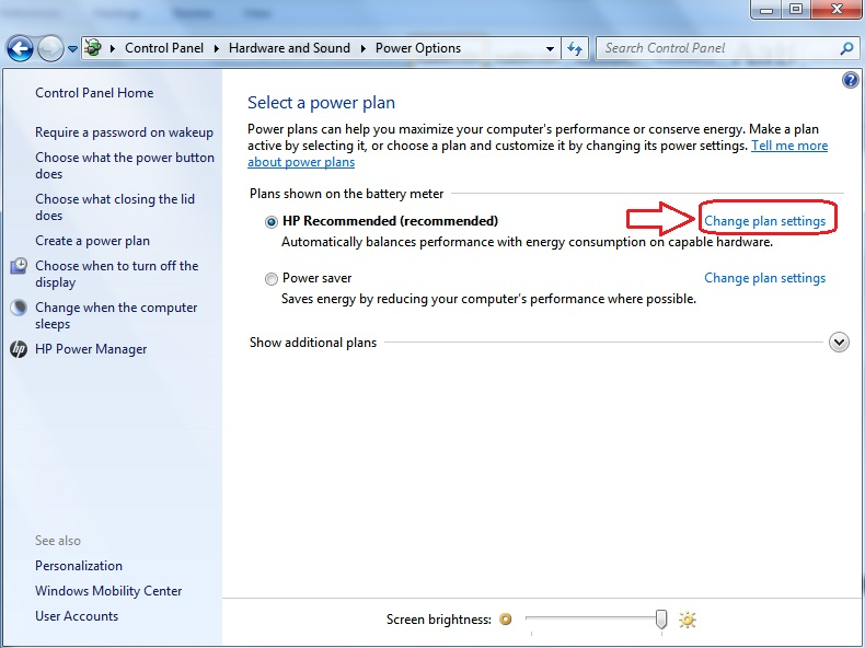 Sleep Mode, Change Plan Settings, Change Plan Settings windows 7,