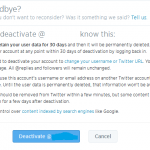 Twitter. Delete twitter account, delete twitter page, deactivate twitter account, deactivate twitter page, techbuzzes.com. techbuzzes.com, How to deactivate twitter account, twitter page, settings, social media, social networking
