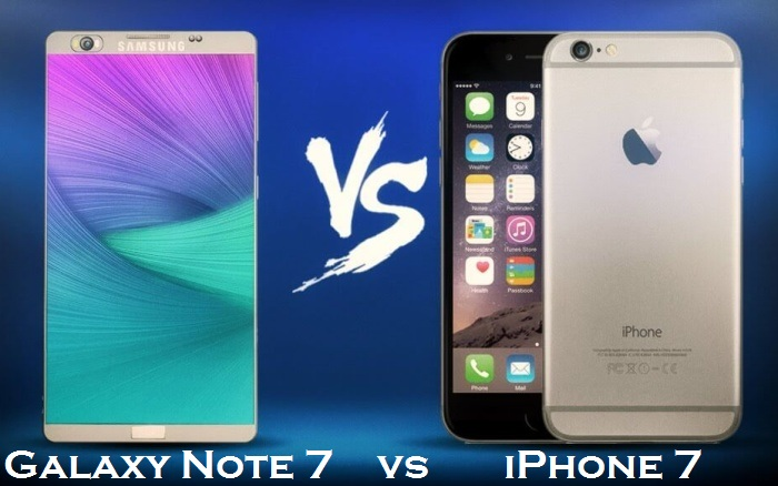 Galaxy Note 7 vs Apple