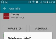 Delete App data, Clear App Cache or Clear App Data, techbuzzes, techbuzzes.com