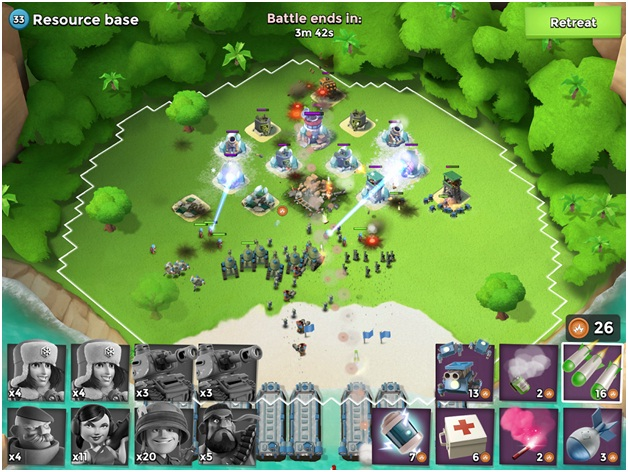 Games like Clash of Clans, boom beach, techbuzzes, techbuzzes.com